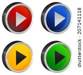 play button   Shutterstock .eps vector #207141118
