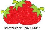 strawberries illustration... | Shutterstock .eps vector #207143344