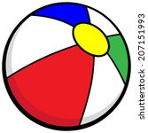 beach ball icon   Shutterstock .eps vector #207151993