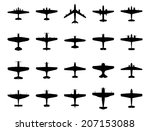 Airplanes Silhouette Set....