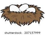 bird nest | Shutterstock .eps vector #207157999