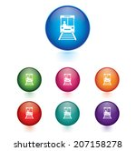 vector   set of sky train icons....
