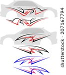 vehicle graphics  stripe  ... | Shutterstock . vector #207167794
