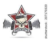 rock n roll symbol | Shutterstock .eps vector #207170320