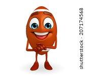 cartoon character of rugby ball ... | Shutterstock . vector #207174568