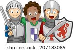 Illustration Of A Group Of Boy...