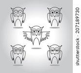 owls  | Shutterstock .eps vector #207189730