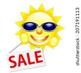 sun sale symbol isolated on... | Shutterstock . vector #207191113
