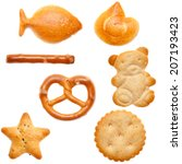 different shaped crackers and...   Shutterstock . vector #207193423