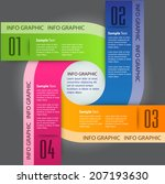 colorful modern template for... | Shutterstock .eps vector #207193630