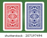 playing card back designs.   Shutterstock .eps vector #207197494
