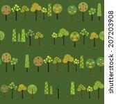 harvesting fruits trees.... | Shutterstock .eps vector #207203908