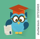 owl design over blue background ... | Shutterstock .eps vector #207210433