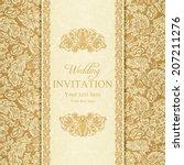 antique baroque wedding... | Shutterstock .eps vector #207211276