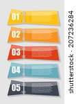 infographic templates for... | Shutterstock .eps vector #207236284