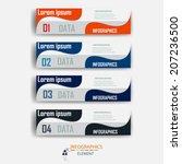 infographics design element... | Shutterstock .eps vector #207236500