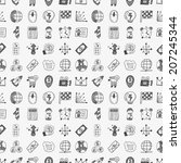 doodle business icon | Shutterstock .eps vector #207245344