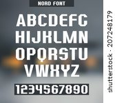 sanserif font and numeral on... | Shutterstock .eps vector #207248179