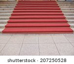red carpet on a stairway used... | Shutterstock . vector #207250528