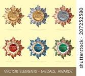 vector elements   medals  awards | Shutterstock .eps vector #207252580