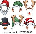 Christmas Hats. Vector Clip Art ...