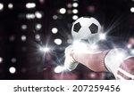 close up image of footballer... | Shutterstock . vector #207259456