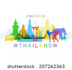 amazing thailand   Shutterstock .eps vector #207262363
