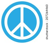 peace symbol button on white... | Shutterstock .eps vector #207264460