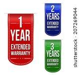 extended warranty banner design ...   Shutterstock .eps vector #207269044