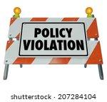 Постер, плакат: Policy Violation road construction