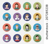 people userpics icons in flat... | Shutterstock .eps vector #207285238