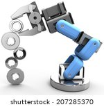 robotic arm building growth in... | Shutterstock . vector #207285370