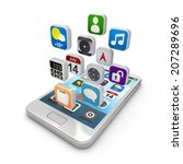 smartphone apps  touchscreen...   Shutterstock . vector #207289696