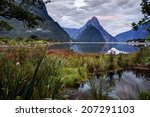 Sun Tipped Mitre Peak And The...