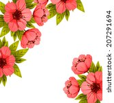 abstract flower background with ... | Shutterstock .eps vector #207291694