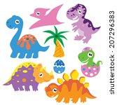 dinosaur vector illustration | Shutterstock .eps vector #207296383