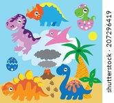 dinosaur vector illustration | Shutterstock .eps vector #207296419