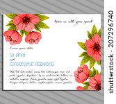 wedding invitation cards with... | Shutterstock .eps vector #207296740