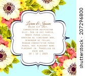 wedding invitation cards with... | Shutterstock .eps vector #207296800