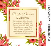 wedding invitation cards with... | Shutterstock .eps vector #207297064