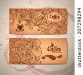 coffee concept design   Shutterstock .eps vector #207298294