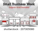 national small business week... | Shutterstock . vector #207305080