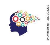 vector logo head gears.... | Shutterstock .eps vector #207305233