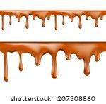 sweet caramel drips seamless... | Shutterstock .eps vector #207308860