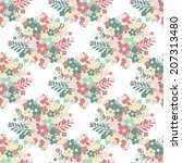 elegant seamless pattern with... | Shutterstock .eps vector #207313480