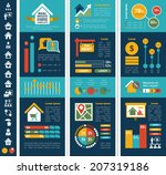 real estate infographics.   Shutterstock .eps vector #207319186