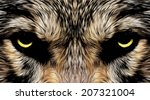 menacing expression and mystic... | Shutterstock .eps vector #207321004