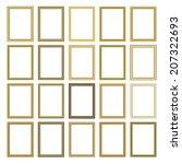 picture photo frames vector | Shutterstock .eps vector #207322693