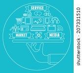line concept of media market...   Shutterstock .eps vector #207331510