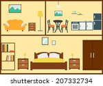 home interior design | Shutterstock .eps vector #207332734